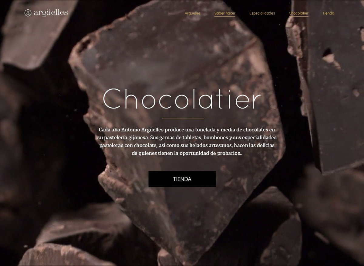 Arguelles Chocolatier - website by web24media