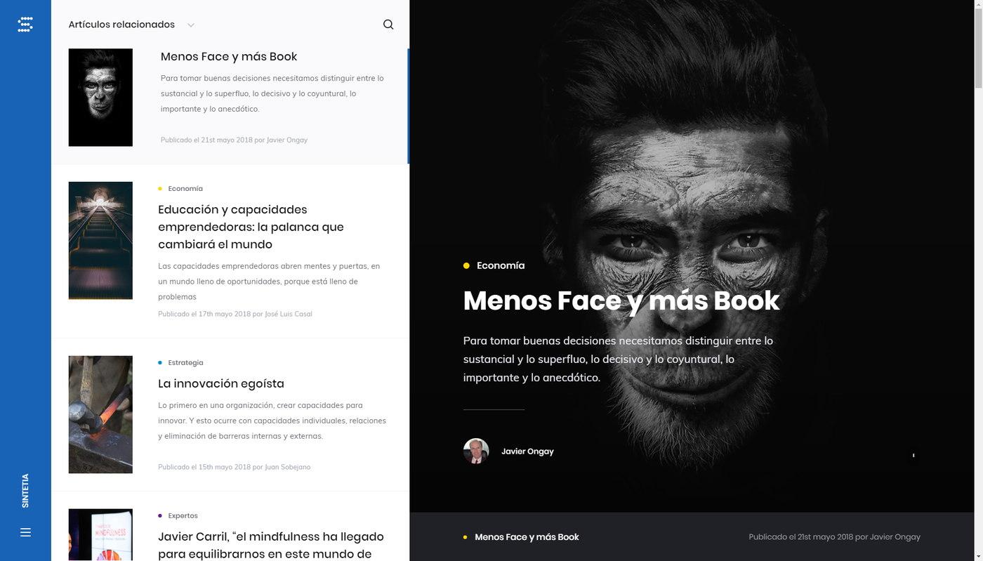 Sintetia - Website redesign best practices 2019