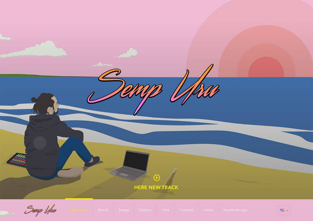 Sempuru music website by web24media